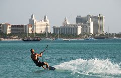 Kite surfer in front of the High Rise Hotels - small