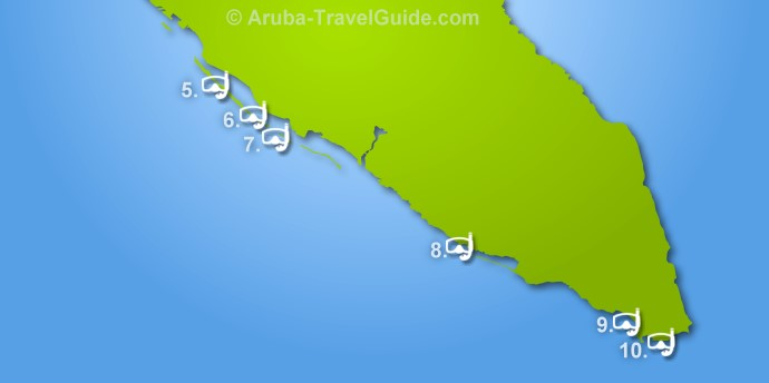 Aruba Snorkel Spots and Sites – Aruba Tourist Attractions Map