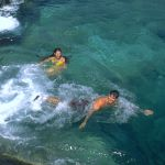 Natural Pool - Couple swimming