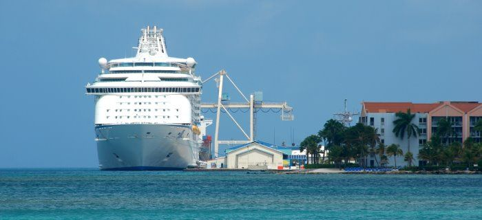 Cruise Ship at Oranjestad