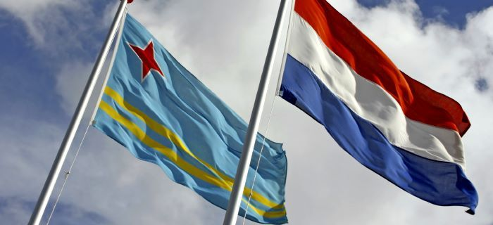Flags of Aruba and The Netherlands