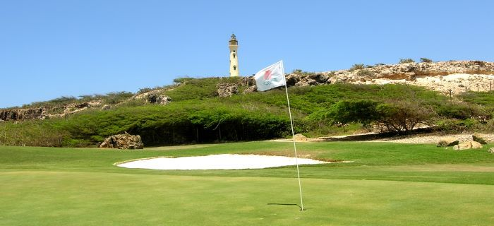 Golf course an the lighthouse