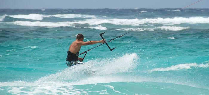 Good weather conditions for kite surfers