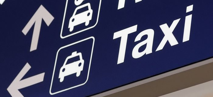 Taxi sign at the airport